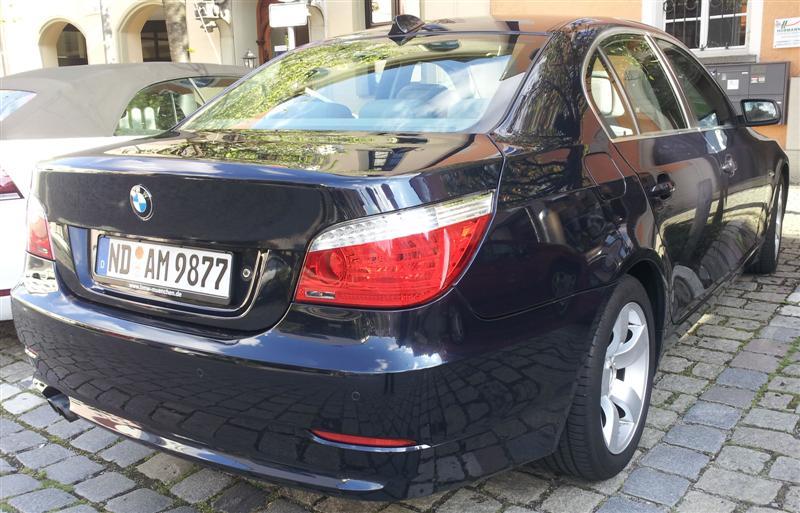 BMW-E60-Facelift-BJ-2008-523-Tonis-E60-Heck-seitlich